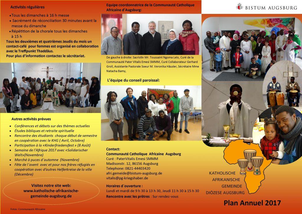 Programm Afrikanische Gemeinde - französisch 2017 I