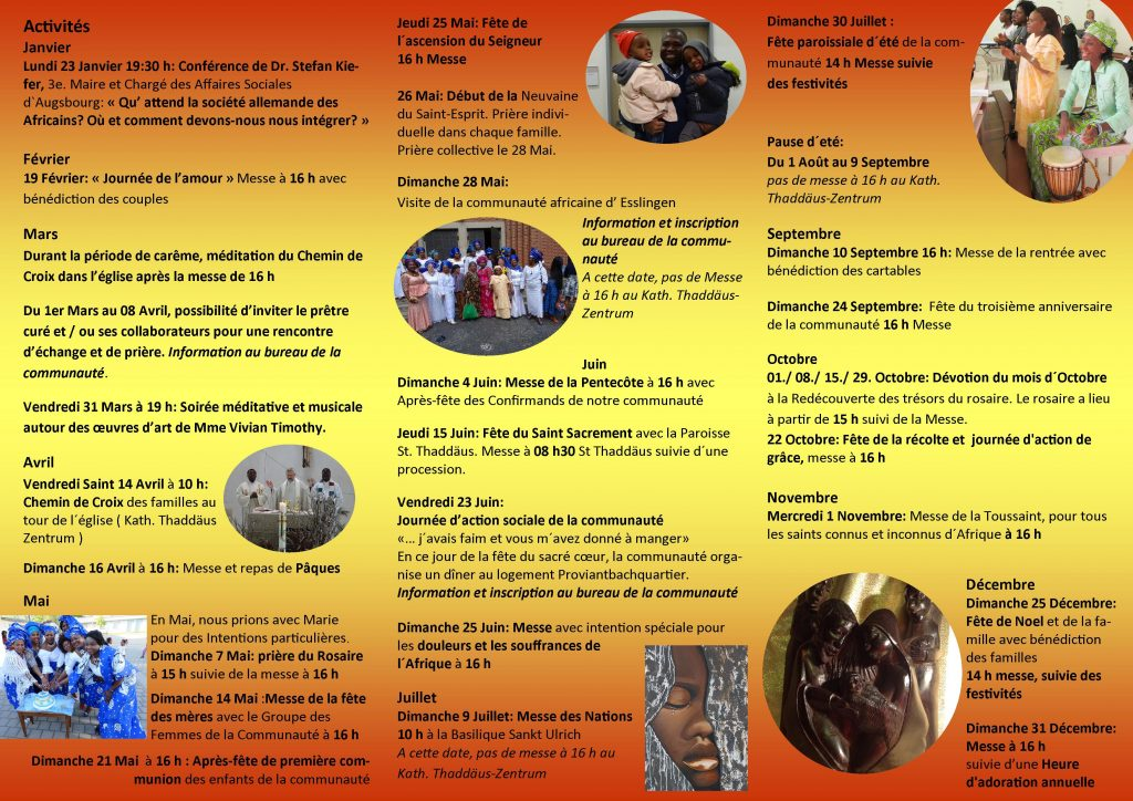 Programm Afrikanische Gemeinde - französisch 2017 II